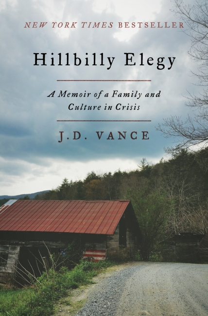 《Hillbilly Elegy》,作者J.D。万斯(J.D。 Vance)