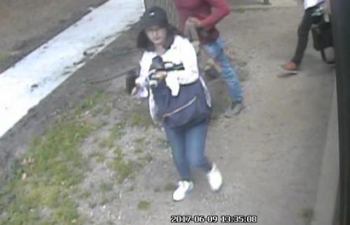 警方公布的监控录像显示,章莹颖头戴深色棒球帽,身穿浅色上衣和牛仔裤。