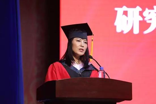 教师代表俞丽辉副教授发言