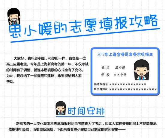 上海省2017年高考志愿批次设置 高考志愿填报时间网址