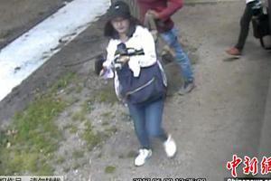 图为章莹颖失踪当天被拍到的影像。