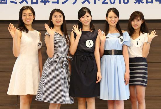 日本小姐大赛预赛前五名