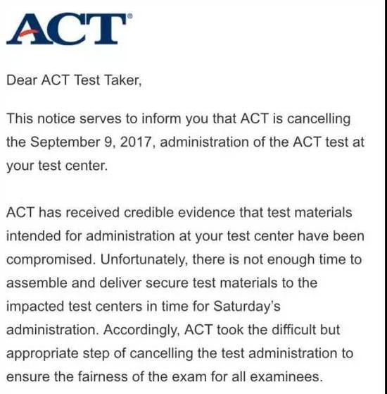 ACT考试泄题取消亚洲考场 哪些学校申请受影