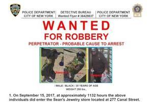 纽约华埠珠宝店遭抢劫 店员被绑损失逾60万美元
