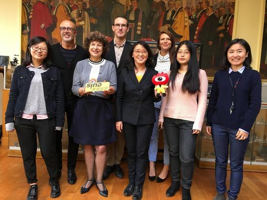 中国留学生及学校教授、工作人员