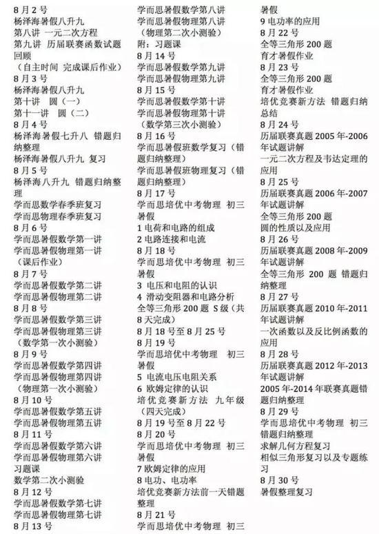 许智美2014年8月份的日程表。图片来自作者。