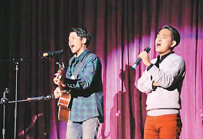 南开大学汉语言文化学院举办的留学生中文歌曲大赛现场