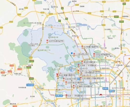 海淀区国际学校地图