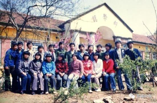 上世纪80年代安徽宣城师范学校的中专生们