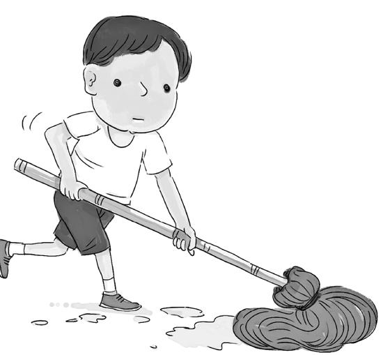 洗衣扫地整理房间 要成为学生的家庭作业