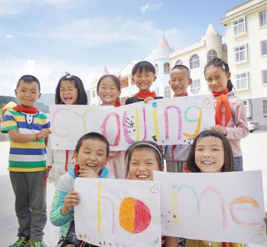 农村寄宿学校的孩子们。受访者供图