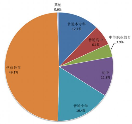 图6 民办教育在校生规模结构
