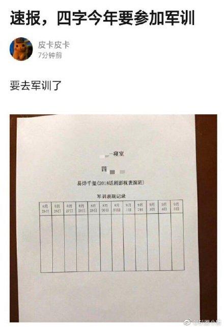 申博网:易烊千玺到场中戏军训 粉丝期待其穿军装
