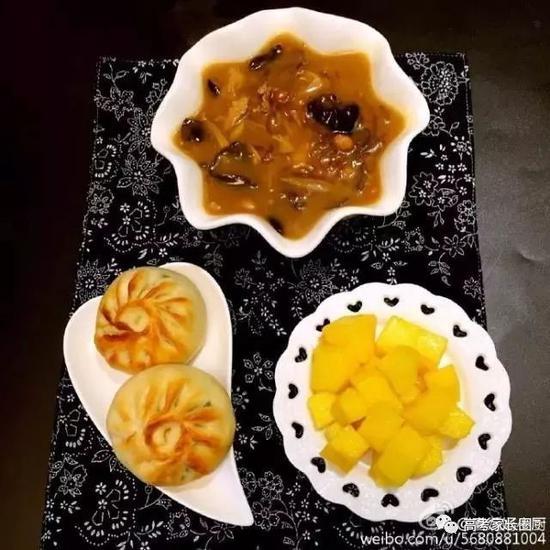 胡辣汤+烤菜包+芒果
