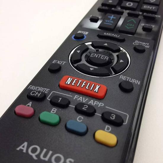 带Netflix按钮的遥控器