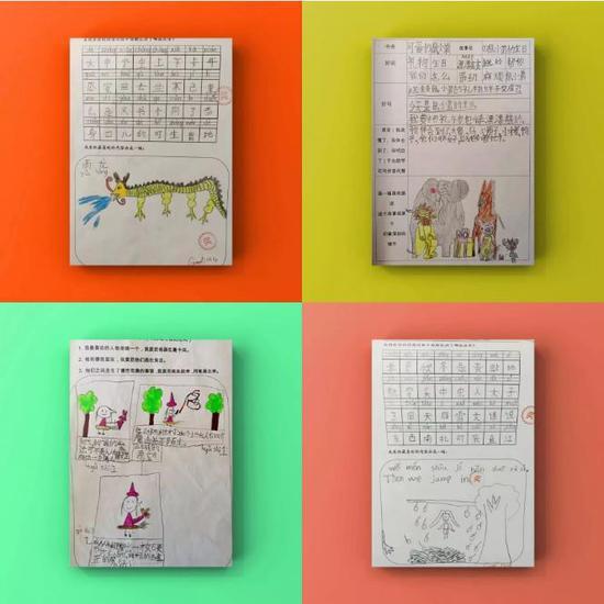"""""""阅读记录卡""""记录了孩子们的语言进步过程"""