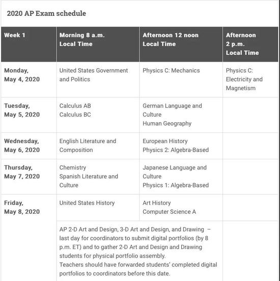 AP部分科目暂停大陆考试 2020年AP考试将迎改革
