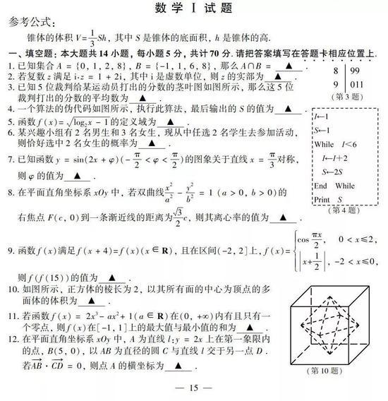来源:江苏省教育考试院