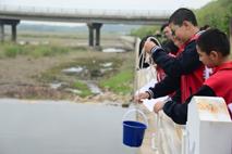 密云太师屯镇中心小学开展实践活动《我为家乡测河流》
