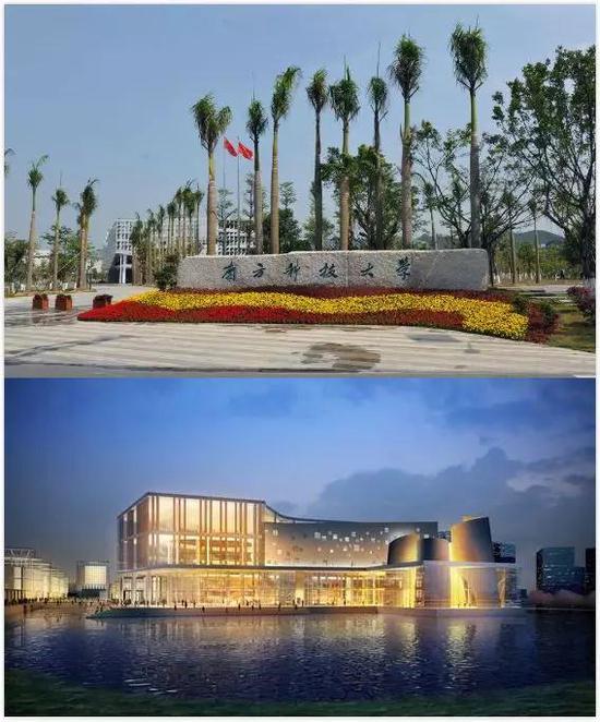 上图为南方科技大学,下图为上海科技大学 图片来源:学校官网