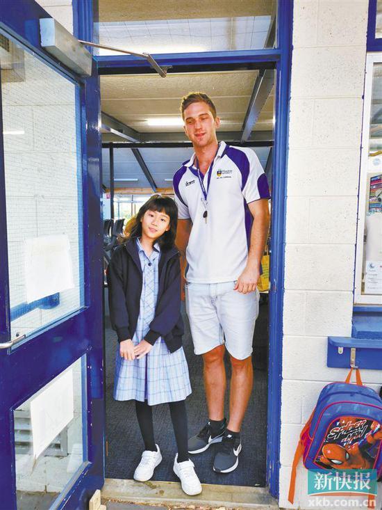 广州小学生小元表示,到澳大利亚游学能了解到当地人的生活。 受访者供图