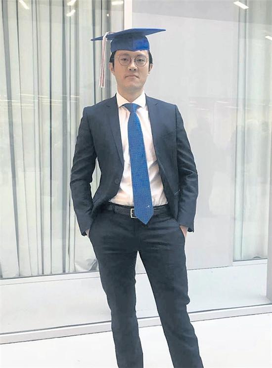 陆晓峰的儿子Victor Lu现在在美国加州大学伯克利分校攻读金融工程硕士,这是他攻读的第三个硕士学位。(图片来源:陆晓峰 摄)