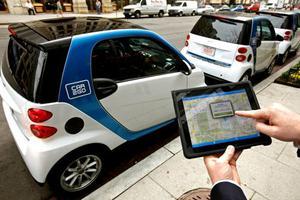 全城环保:温哥华成为北美最爱使用共享汽车的城市
