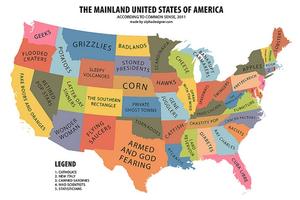 """美国人地域歧视:东西南北中 互称对方""""红脖子"""""""