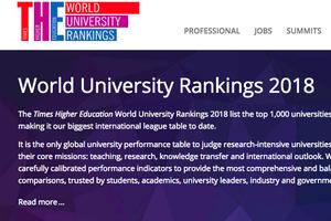 泰晤士最新世界大学排名出炉 北大位列亚洲第二