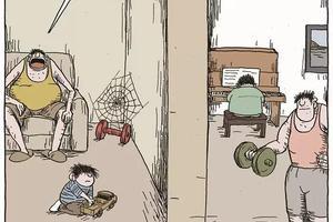 打脸中国父母的8幅漫画:你什么样孩子就什么样