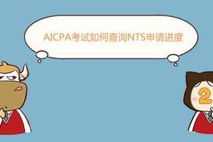 AICPA考试如何查询NTS申请进度