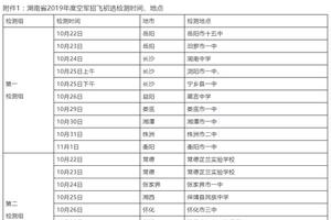 湖南2019年度空军招收高中生飞行学员工作安排