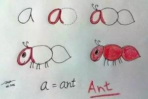 爸妈看过来:字母变身简笔画 陪孩子趣味学英语