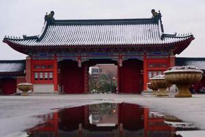 上海交大初雪 校园成冰雪童话世界(图)