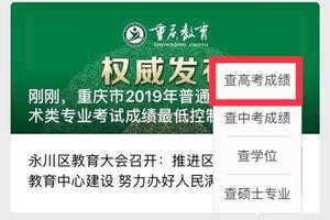 重庆2019艺术类专业考试成绩最低控制分数线公布