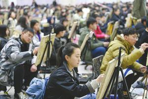 数十万艺考客流陆续来济南追梦 有人报考14所学校