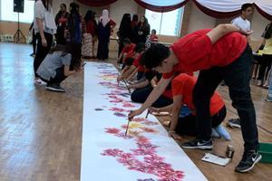 中国书画走进马来西亚世纪大学 共绘牡丹迎新春