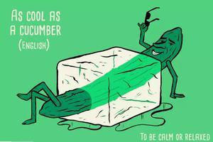 As cool as a cucumber ?黃瓜有什么好冷靜的?