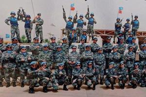 硬核高考应援 中国维和女兵从马里给儿子发来照片