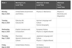 2020年AP考试时间表发布 部分科目有延迟