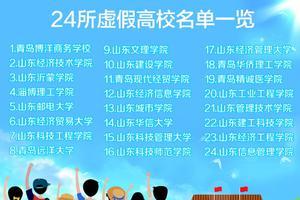 山东省发布24所虚假高校名单 有大学地址竟为饭馆