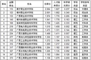 武书连2019广西高职高专综合实力排行榜