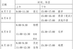 北京2020高考改為四天 本科普通批設30個志愿