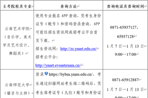 云南:2020年高招艺术类统考本专科专业分数线