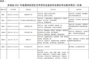 安徽省2021年普通高校招生艺术专业统一考试注意事项