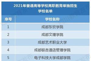四川91所高职单招学校名单公布 3月4日起网上报名