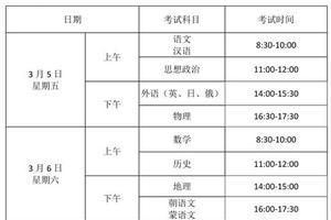 辽宁2021年1月高中学考定于3月5日至7日举行