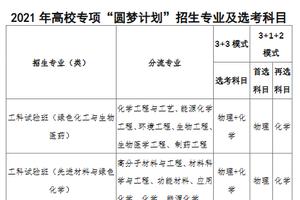 """北京化工大学2021年高校专项""""圆梦计划""""招生简章"""