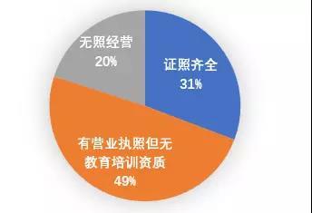 上海市排查的教育培训机构资质情况(截止2017年4月)