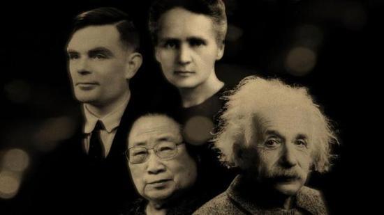 """""""20世纪最伟大人物""""科学篇 图自BBC"""